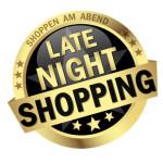 Shopping bis in die späte Nacht.