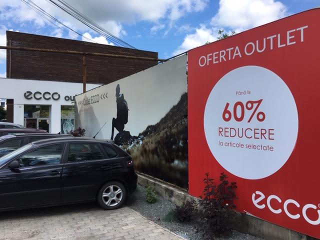 Bild vom Ecco Outlet außen in der Nähe von Cluj Napoca Klausenburg in Rumänien